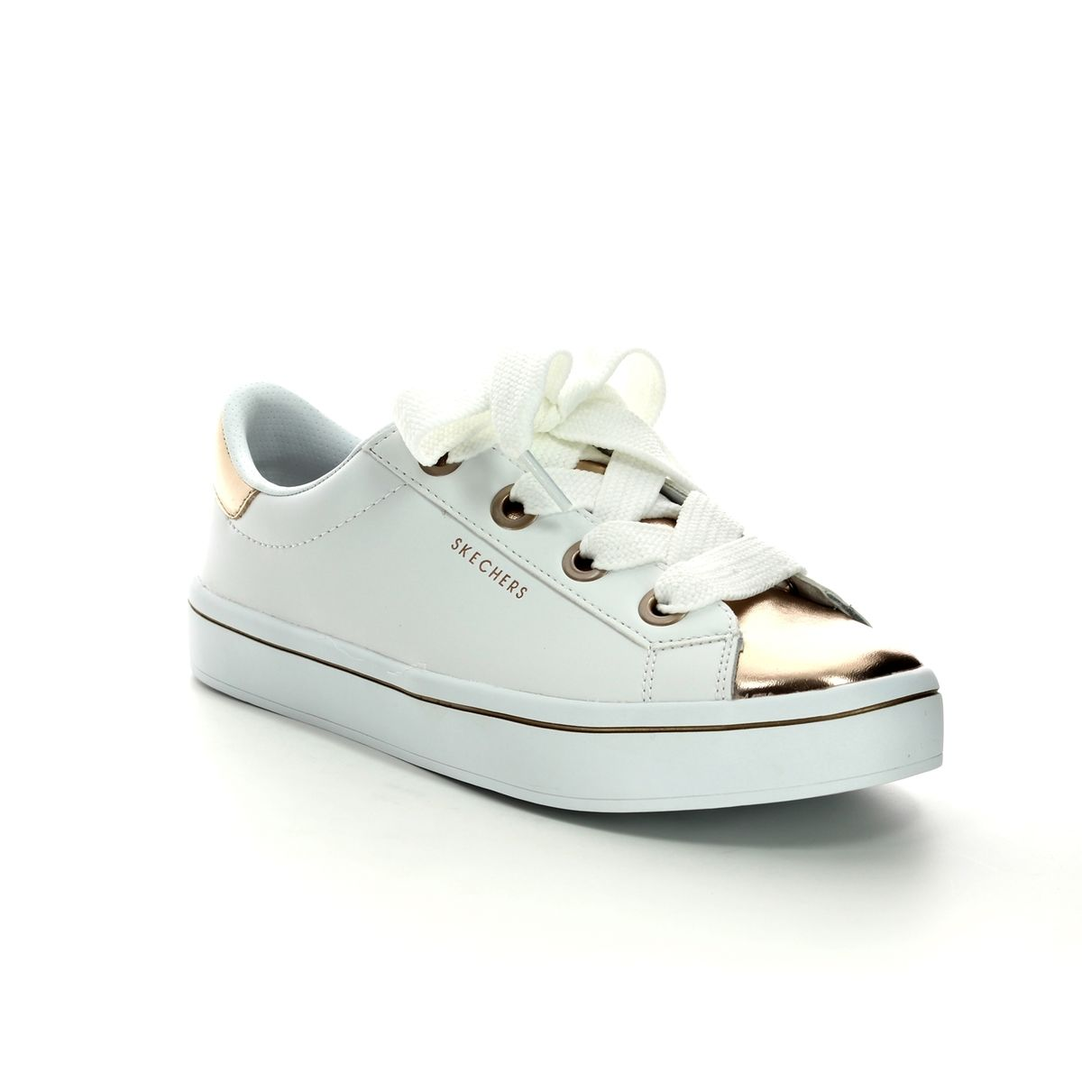e13005aaa Skechers Hi Lites Medal SN982 WTRG White - rose gold trainers
