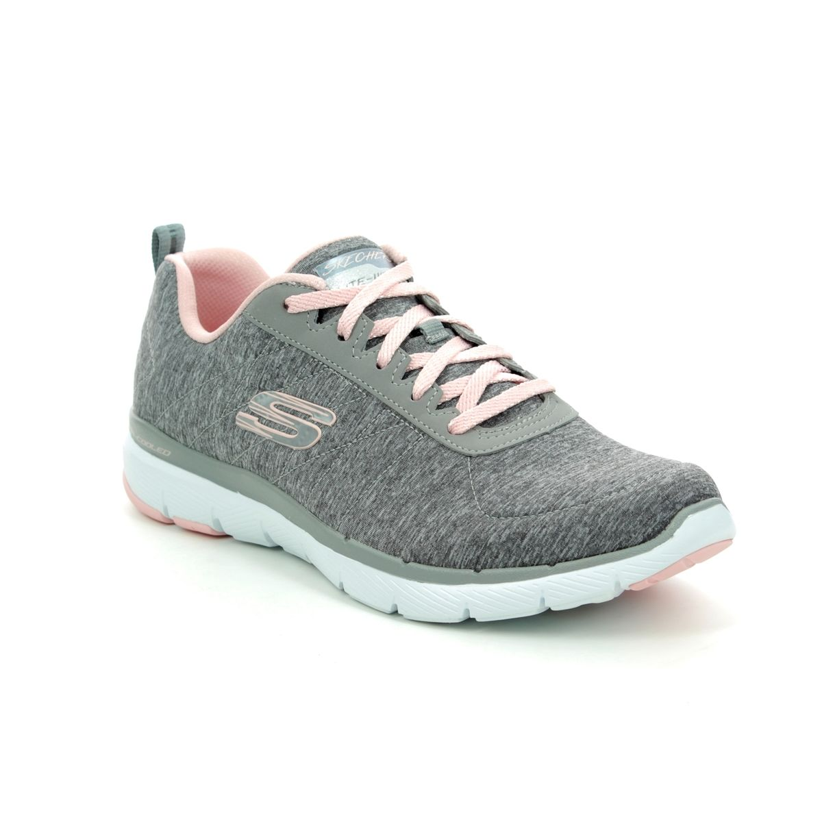 73069ee9335 Skechers Insiders Flex 13067 GYLP Grey - light pink trainers