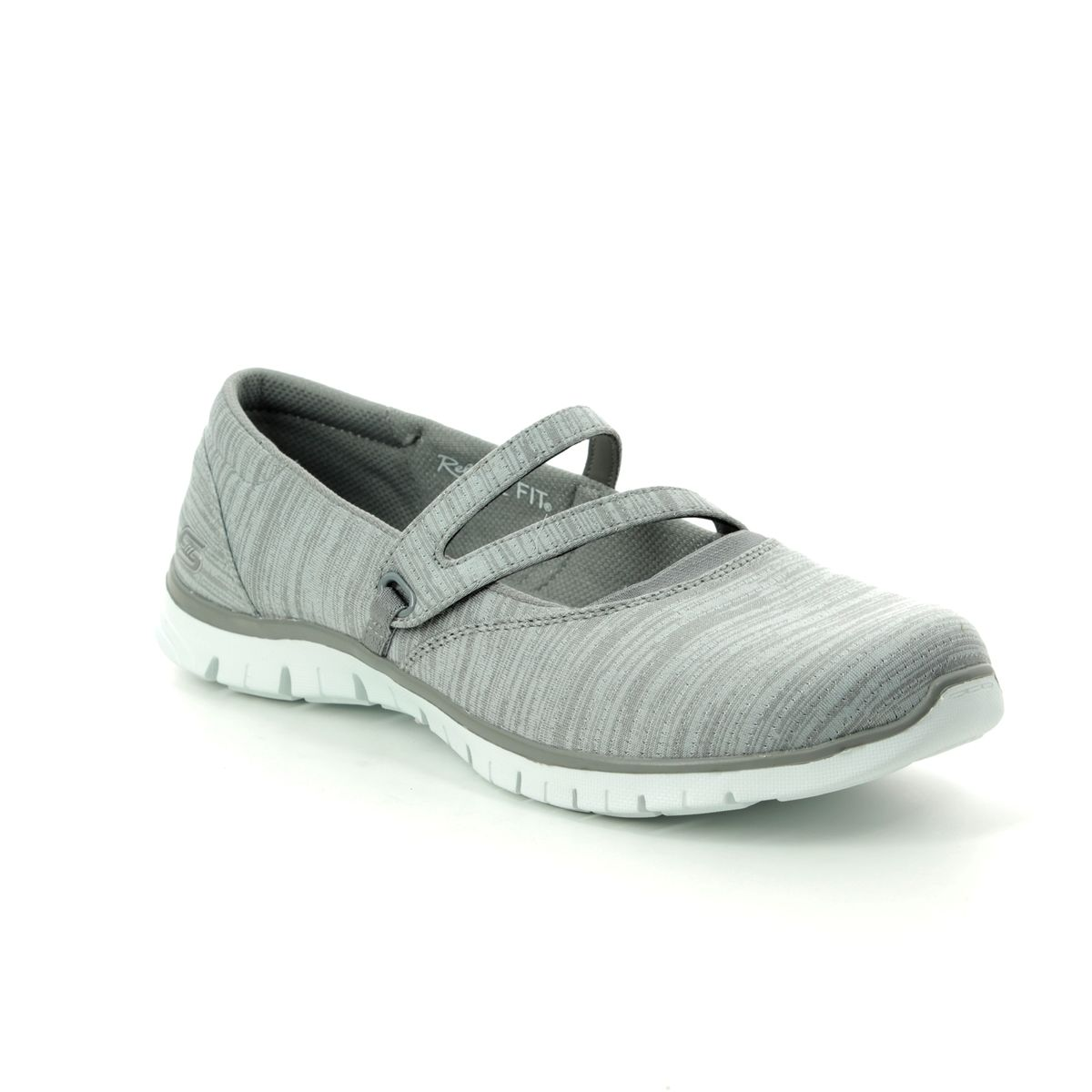 687c681d4d86 Skechers Make It Count 23469 GRY Grey Mary Jane Shoes