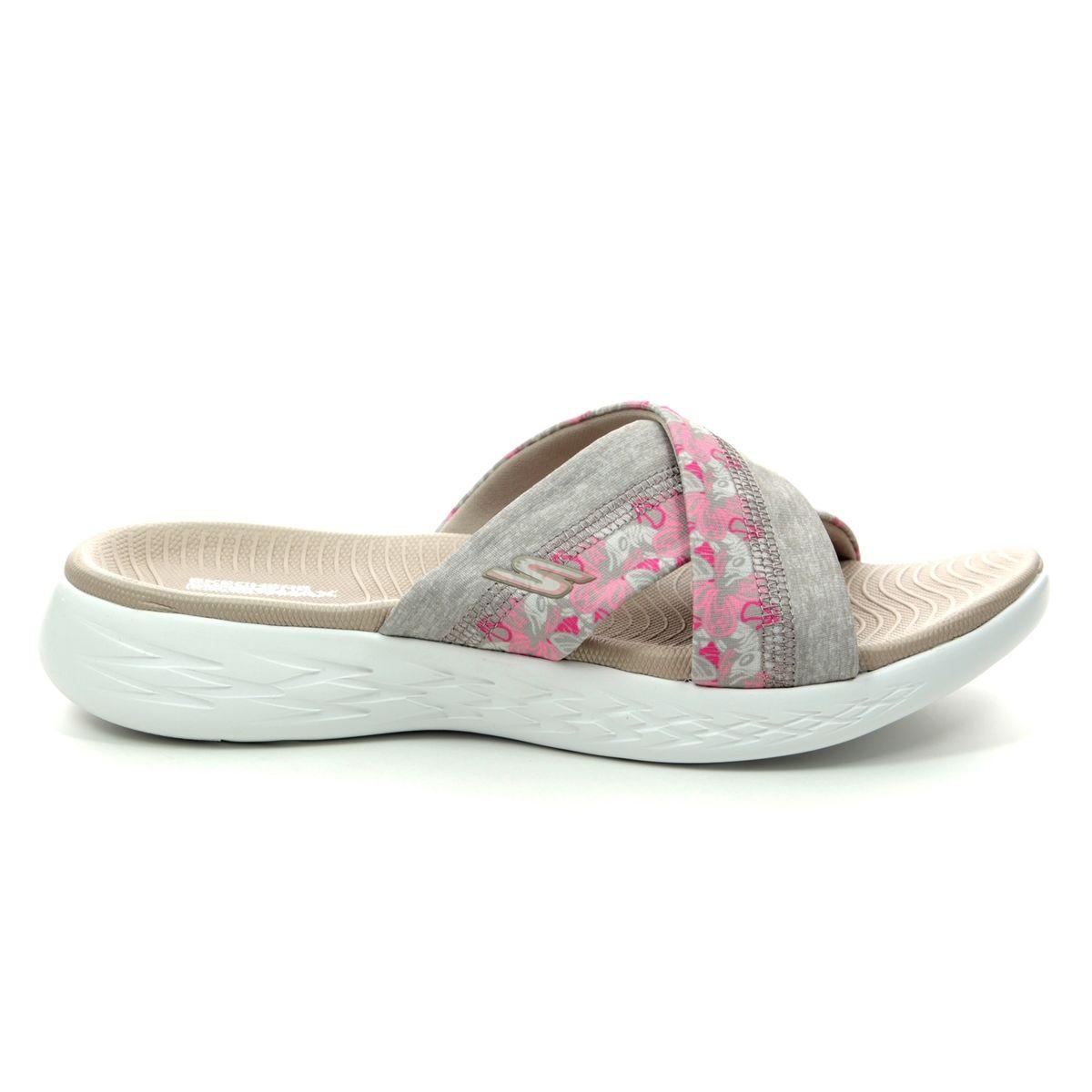 c3f2c3b710a1 Skechers Monarch 600 15306 TPE Taupe Slide Sandals