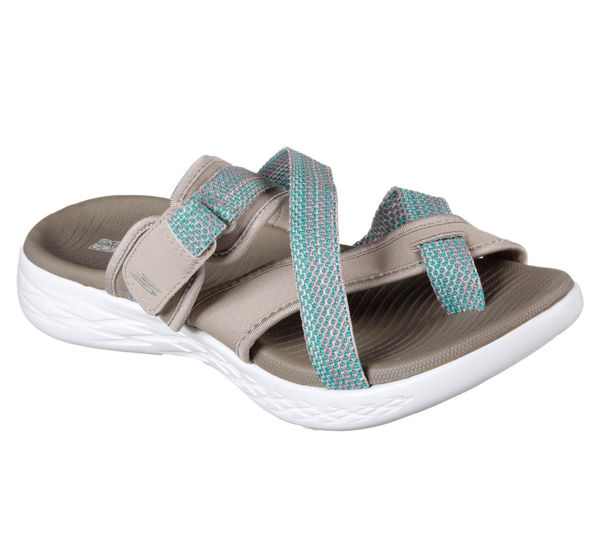 590c168d6fe Skechers On The Go Glow 15308 TPE Taupe Slide Sandals