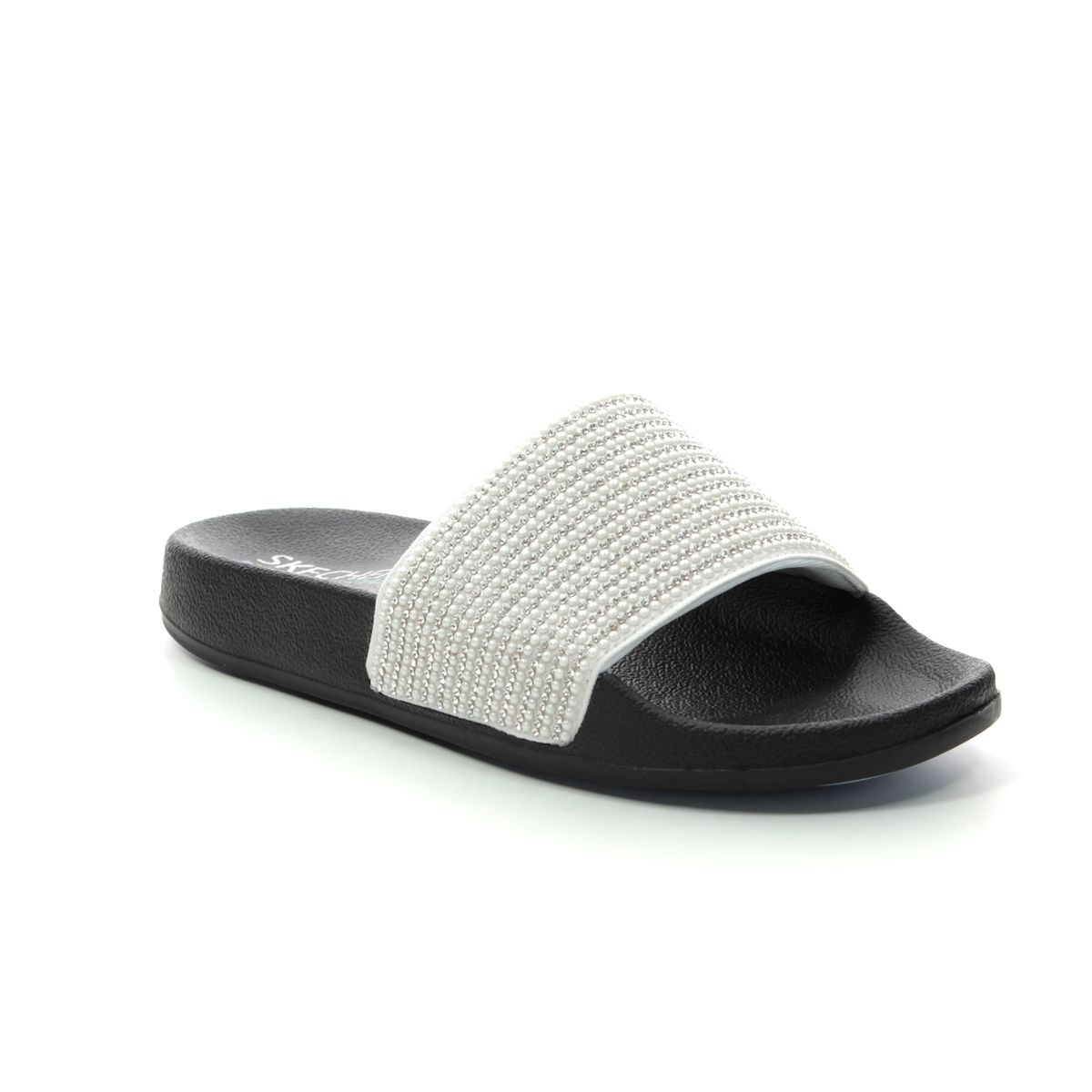 skechers silver sandals