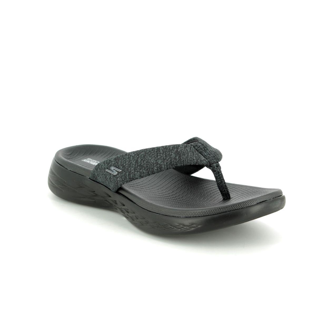 f24fb9ee8bc Skechers Preferred 15304 BBK Black Toe Post Sandals