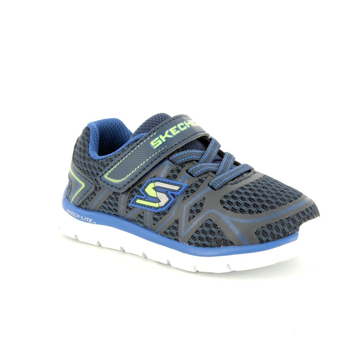 62f2edbf7609 Skechers Quick Leap 95046 NVBL Navy-Blue first shoes