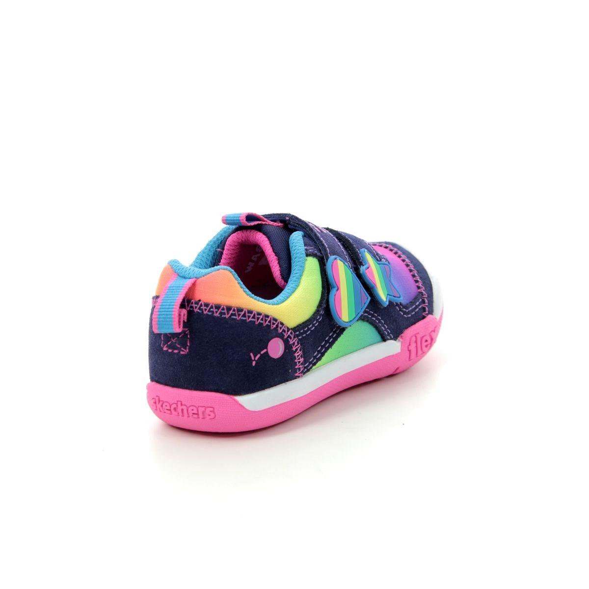 e6088f9b82c Skechers Rainbow Dash 82162 NVMT Navy multi first shoes