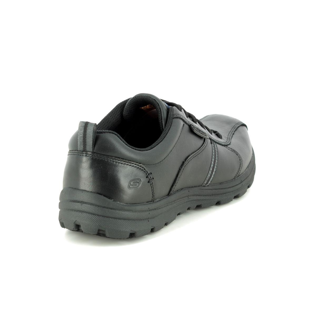 Gracioso Lavar ventanas Contiene  Skechers Safety Work Lacing Slip Resistant 77036EC BLK Black casual shoes