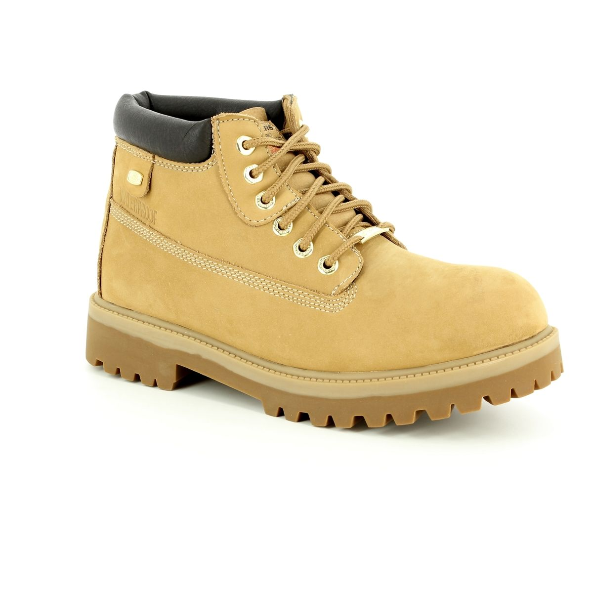 hommes's Skechers Sergeants Verdict Rugged Ankle Boot Wheat