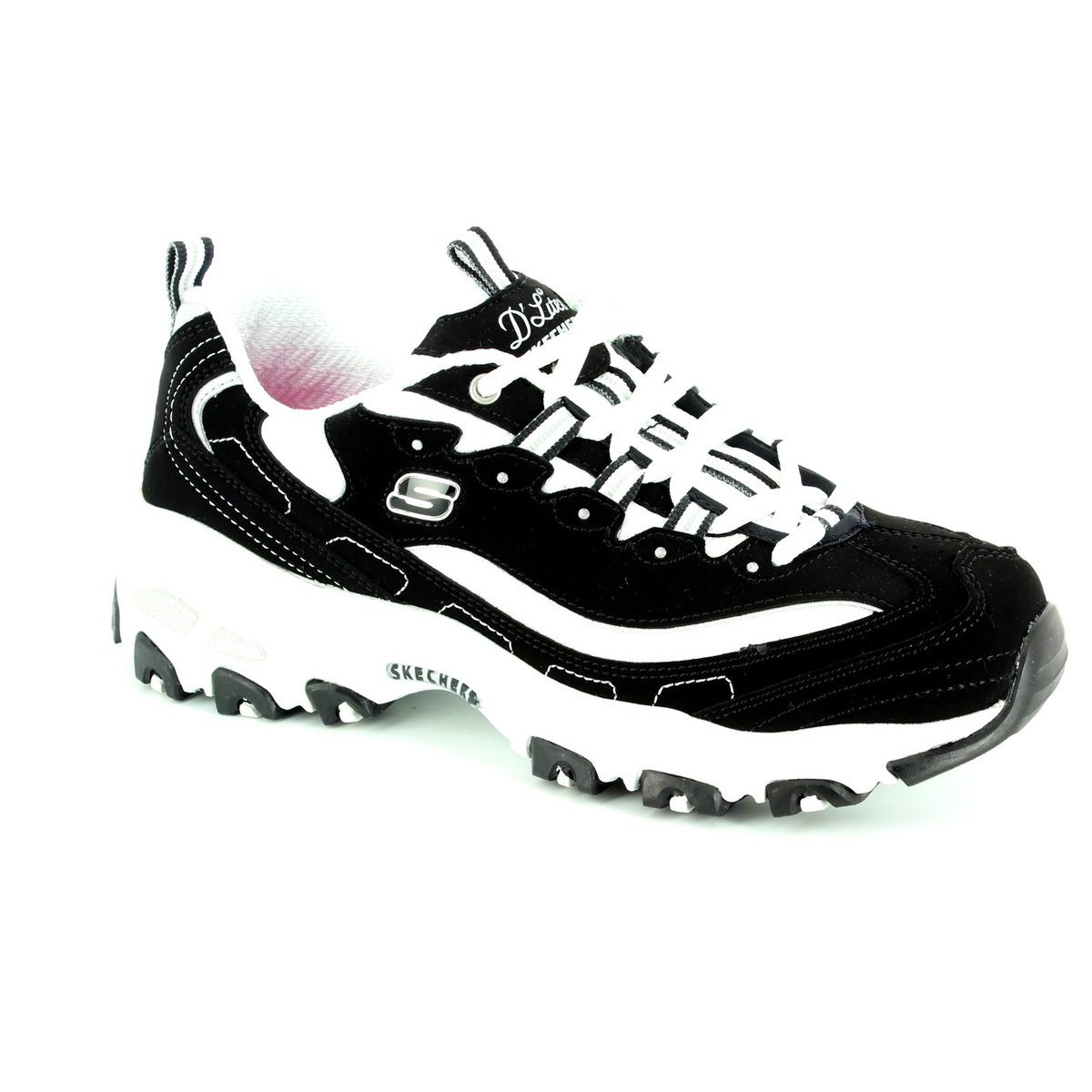 47911f26b1590 Skechers Lacing Shoes - Black white - 11930 SPORT DLITES