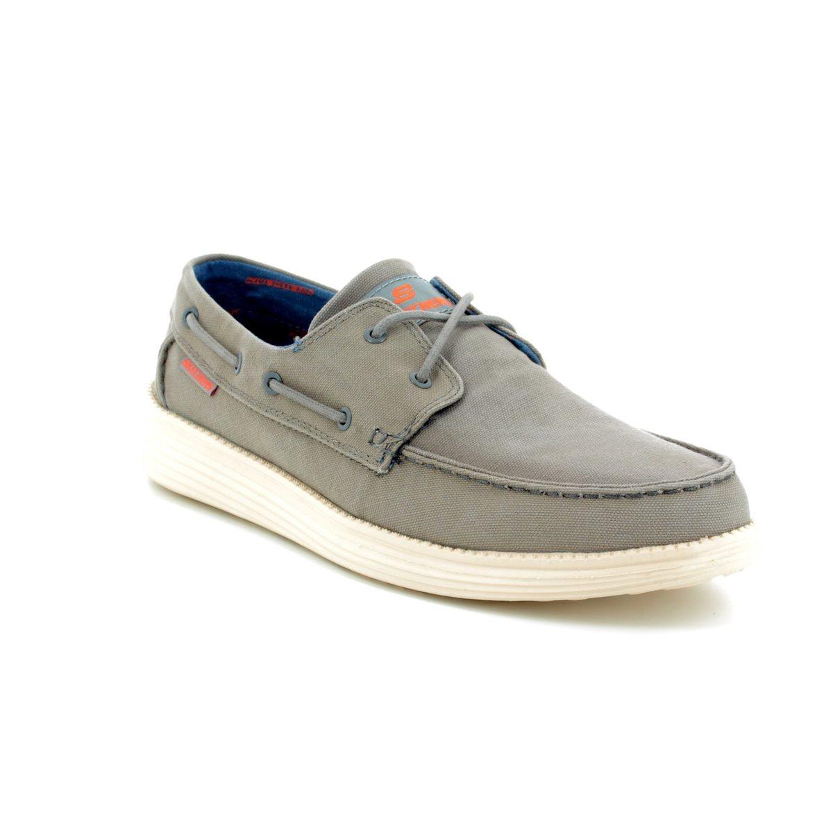 e7763a492354 Skechers Status Melec 64644 CHAR Charcoal casual shoes