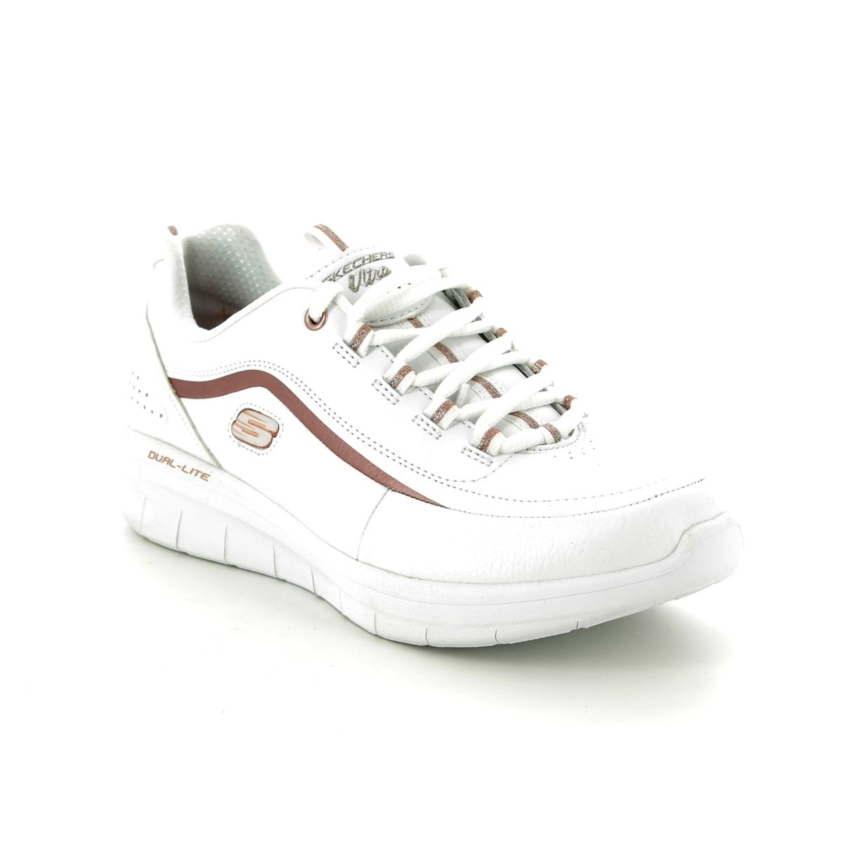 a4778e790717 Skechers Synergy 2 Meta 12933 WTRG White - rose gold trainers