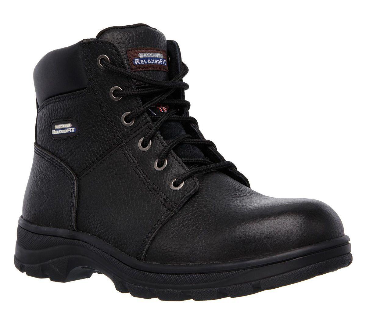 Work Boot Steel Toe 77009EC BLK Black boots