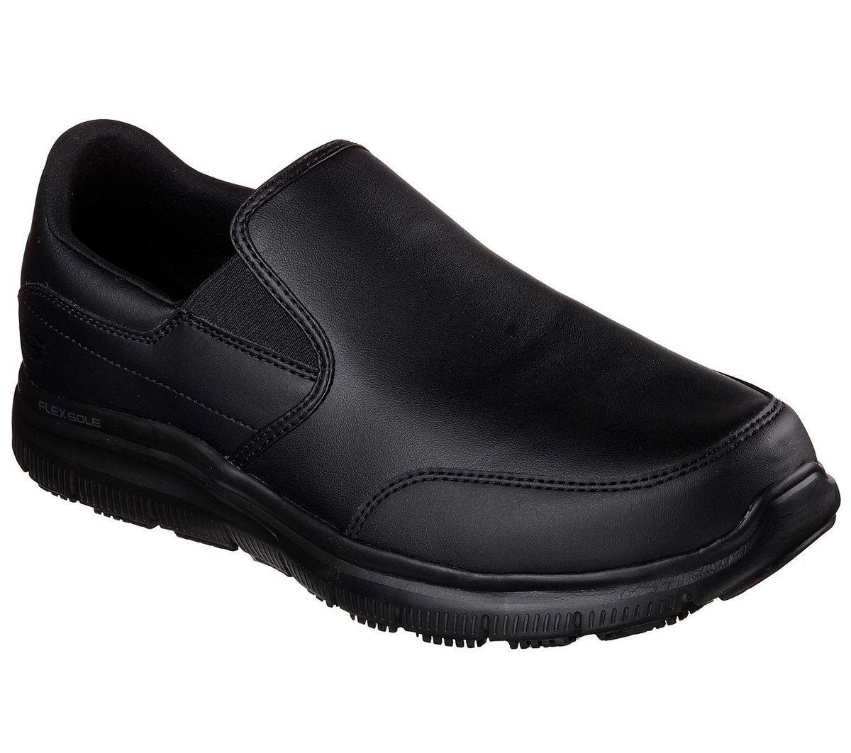 Skechers Work Leather 77071 Bbk Black Trainers