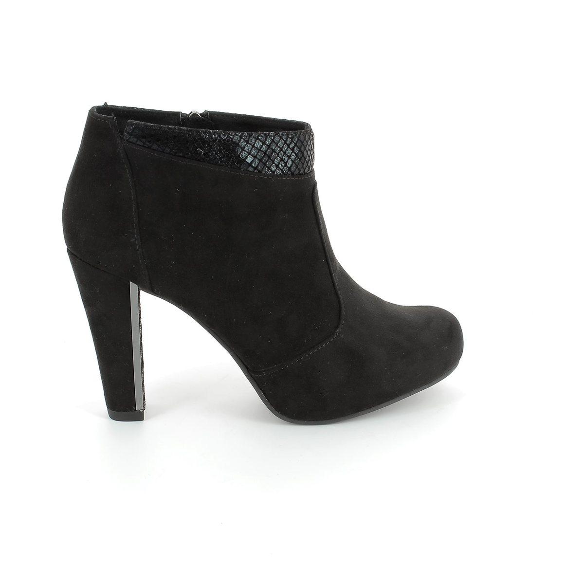 tamaris carradank 25052 052 black suede ankle boots. Black Bedroom Furniture Sets. Home Design Ideas