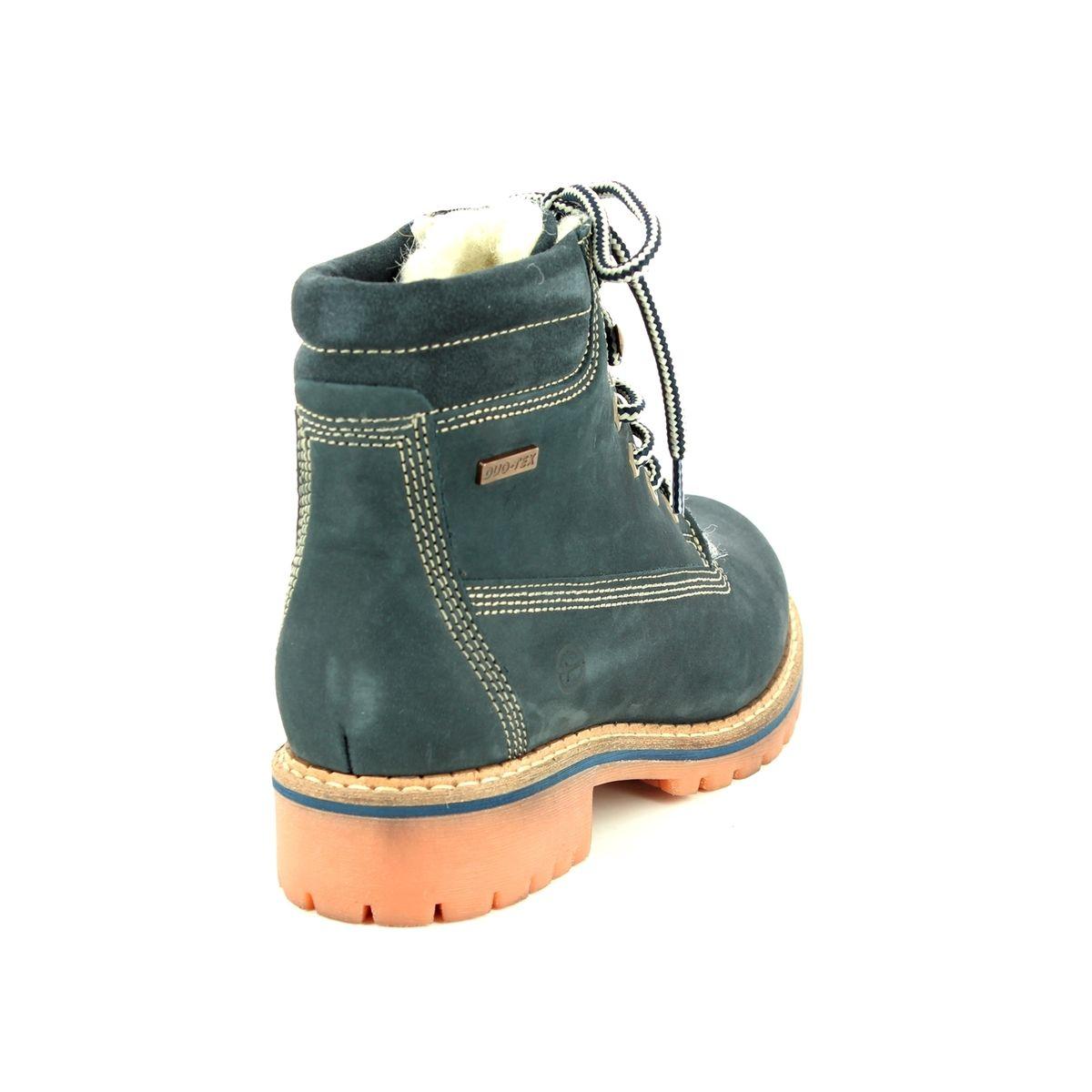 26b105aa172b Tamaris Ankle Boots - Navy nubuck - 26244 21 805 CASTER TEX