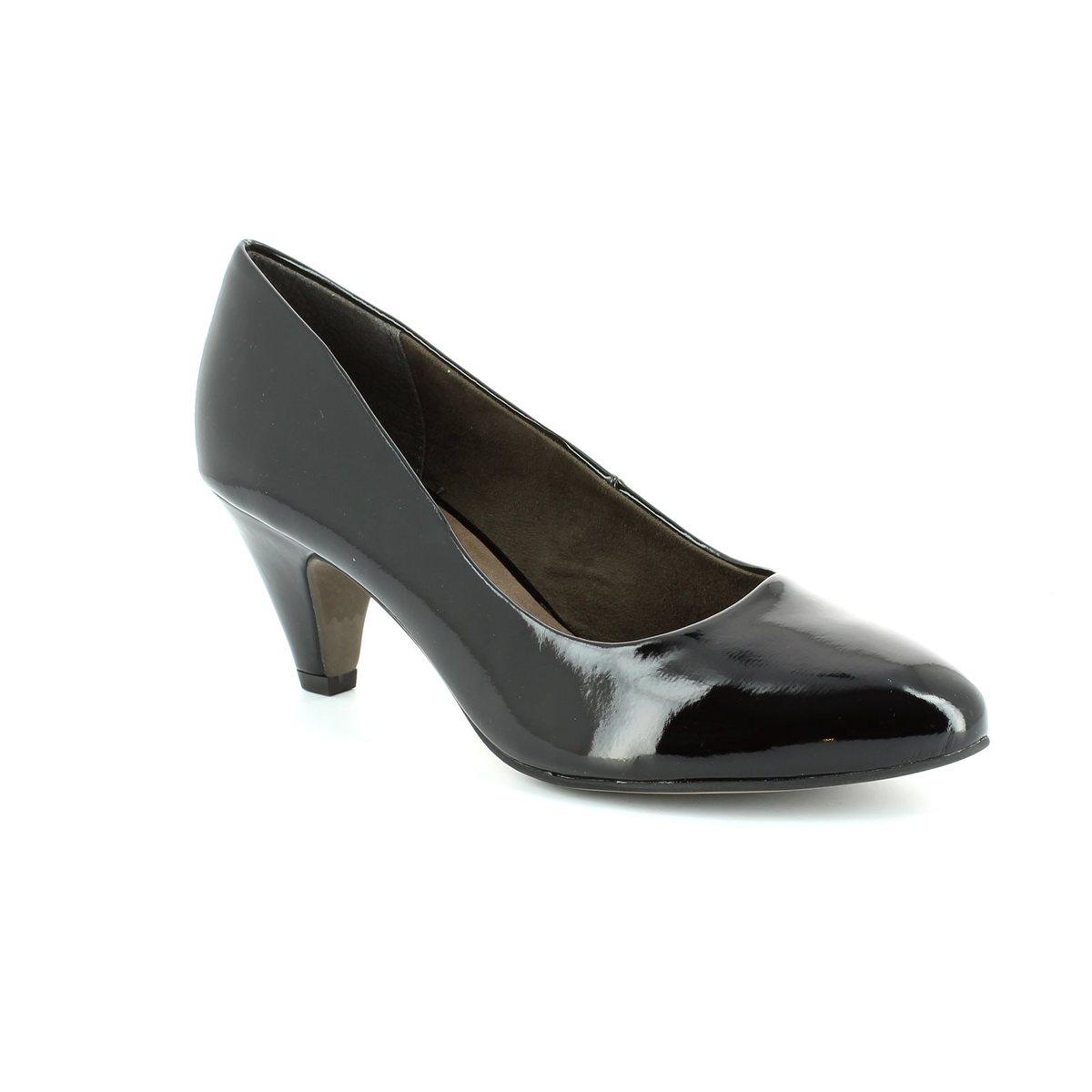 tamaris cressco 22416 018 black patent high heeled shoes. Black Bedroom Furniture Sets. Home Design Ideas