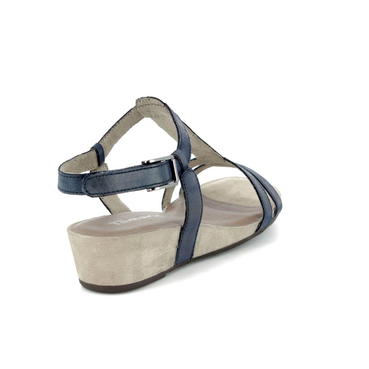 23150d588fde Tamaris Wedge Sandals - Navy nubuck - 28209 20 773 EMILY 81