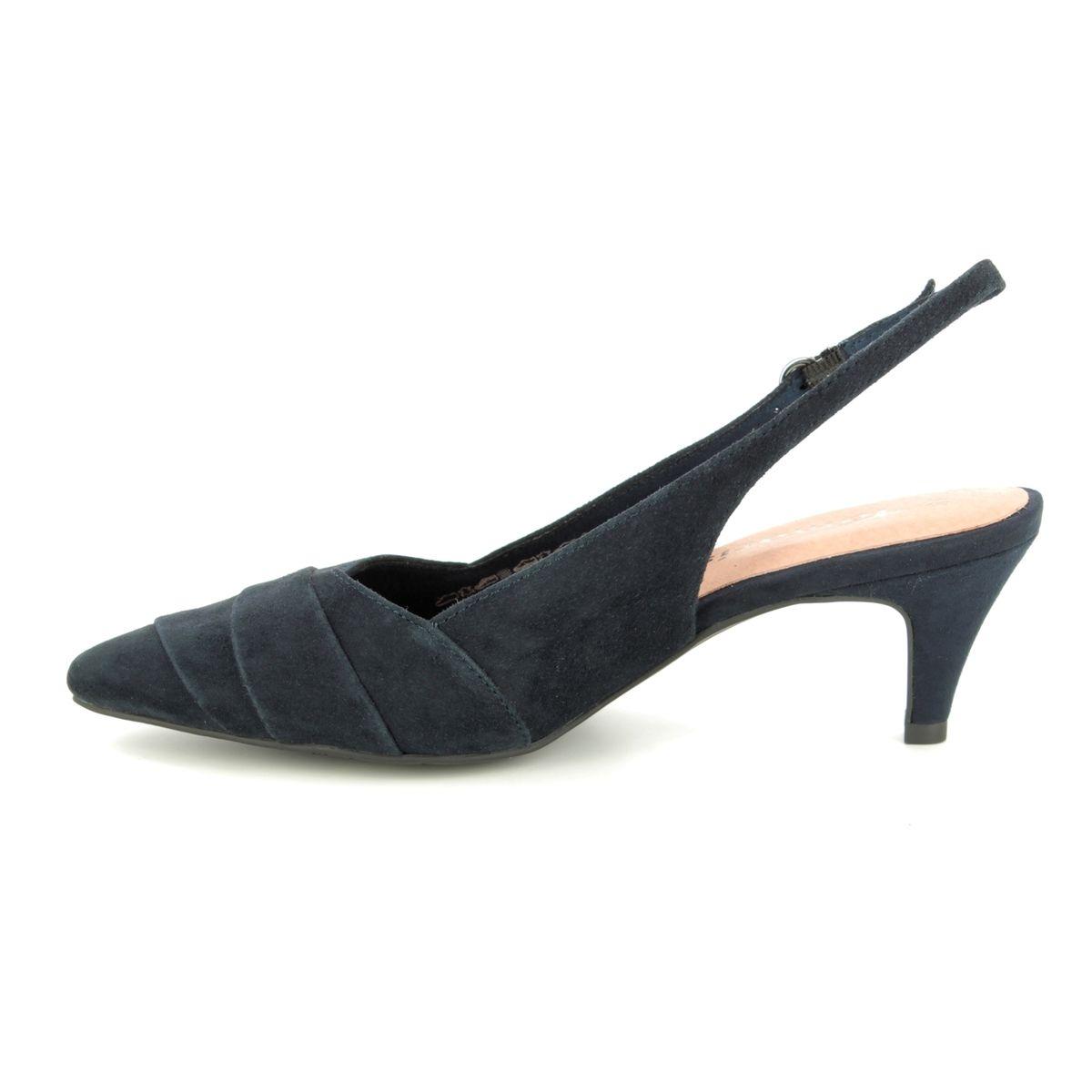 321df0d306c Tamaris Slingback Shoes - Navy suede - 29616 32 805 FATSIA SLING
