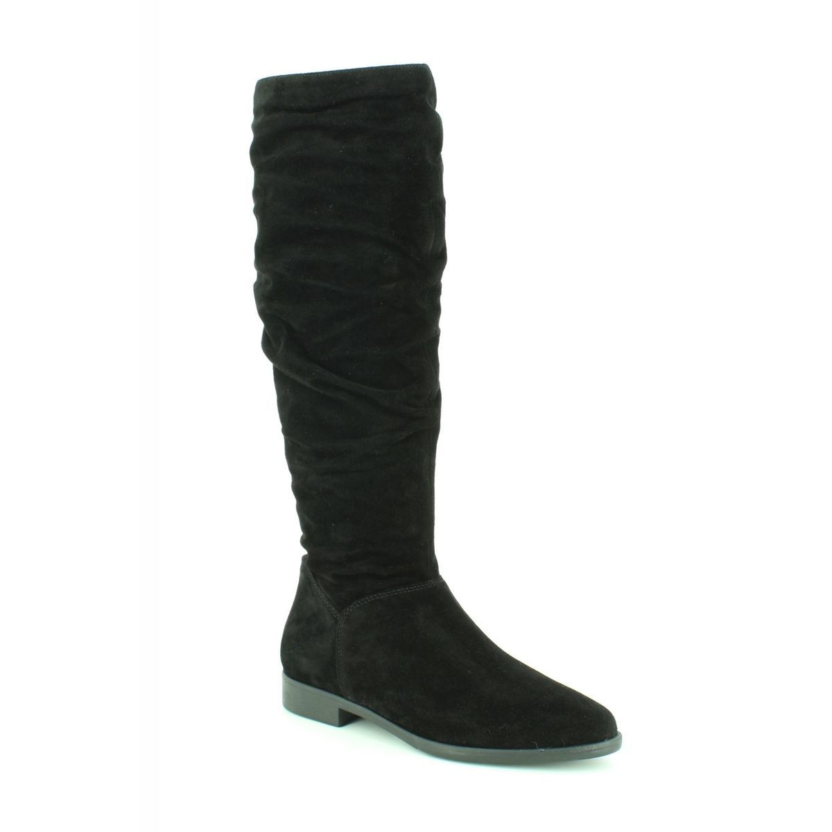 f2643056590 Tamaris Knee-high Boots - Black suede - 25546 21 001 GESIN LONG