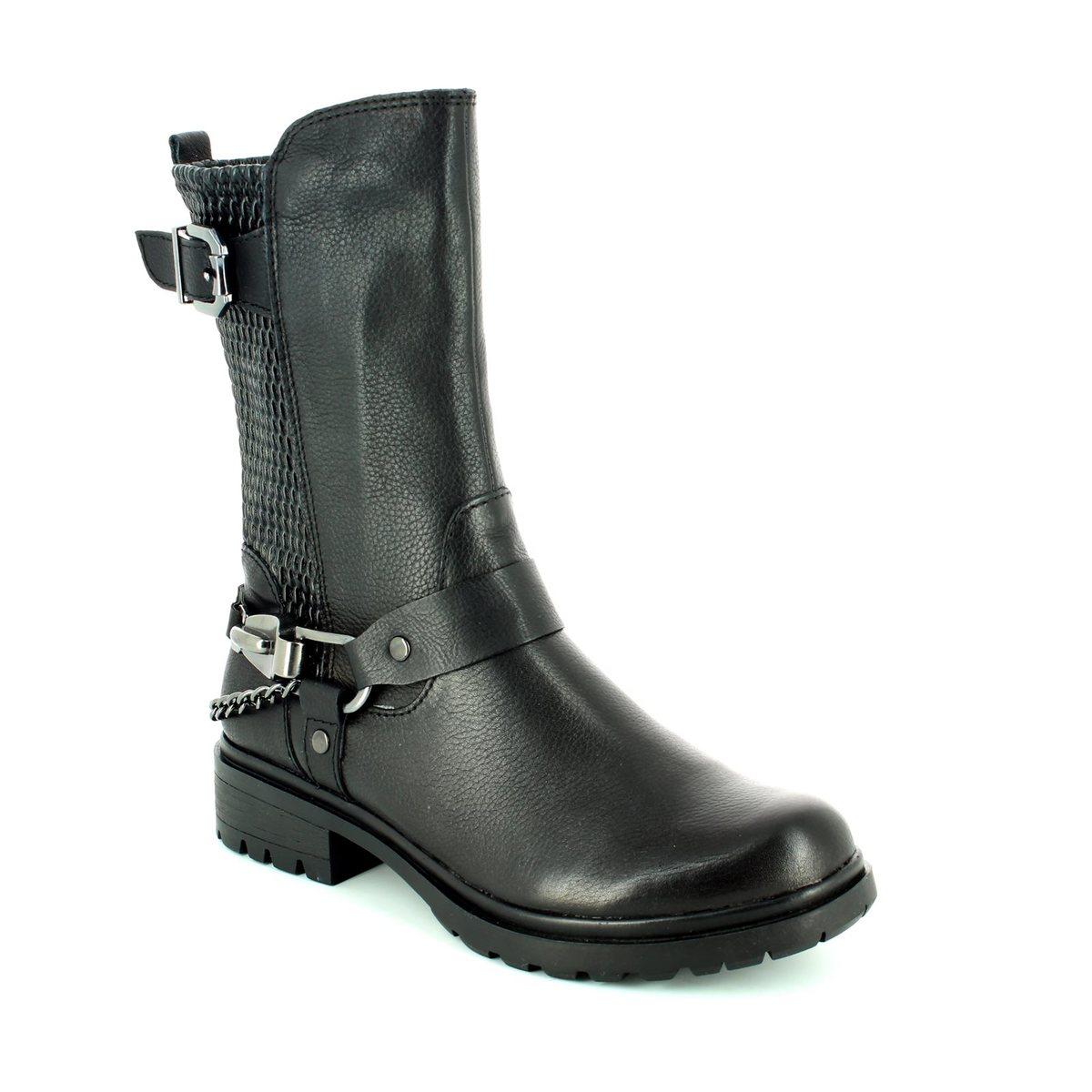 tamaris helio 25411 001 black ankle boots. Black Bedroom Furniture Sets. Home Design Ideas