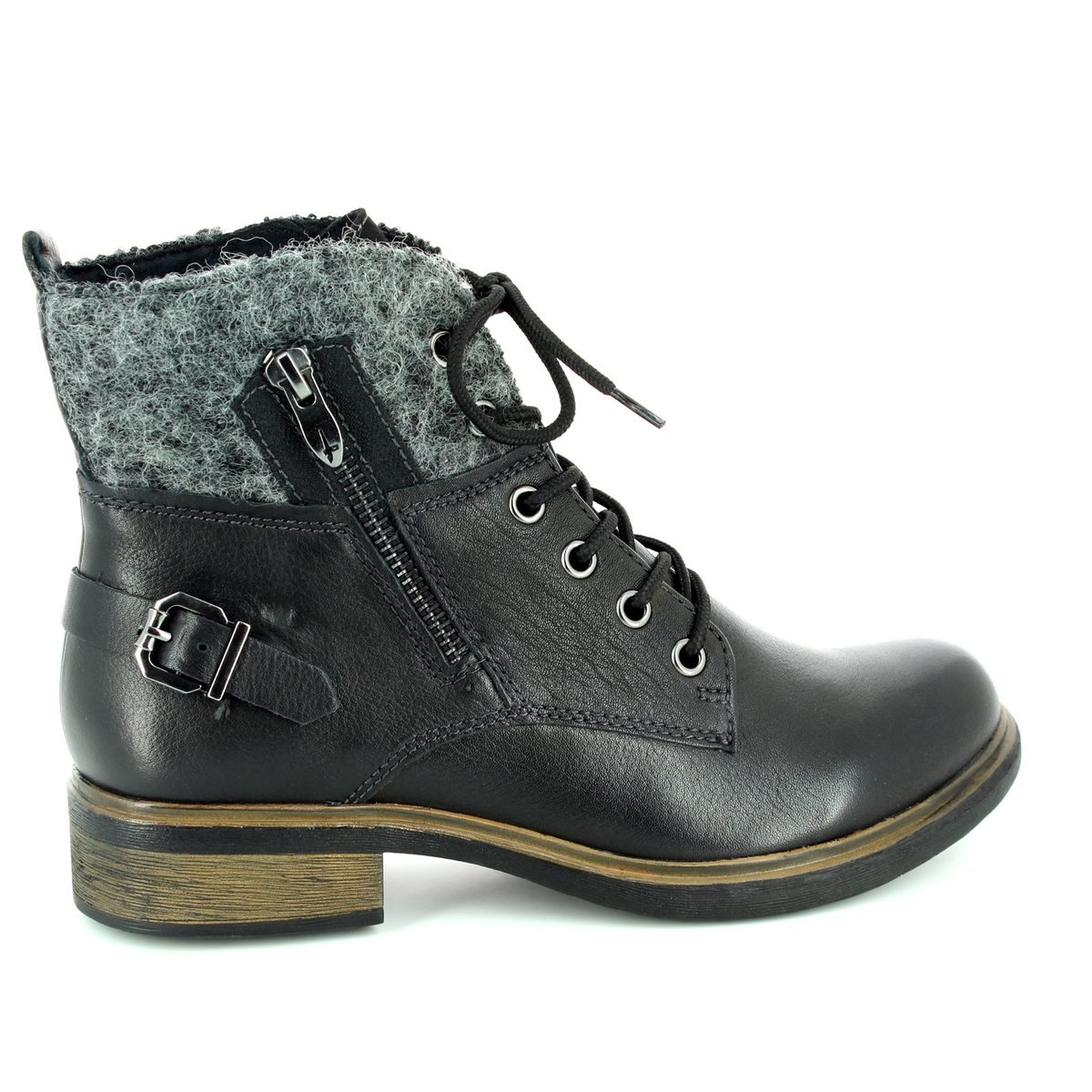 tamaris helios 25110 001 black ankle boots. Black Bedroom Furniture Sets. Home Design Ideas