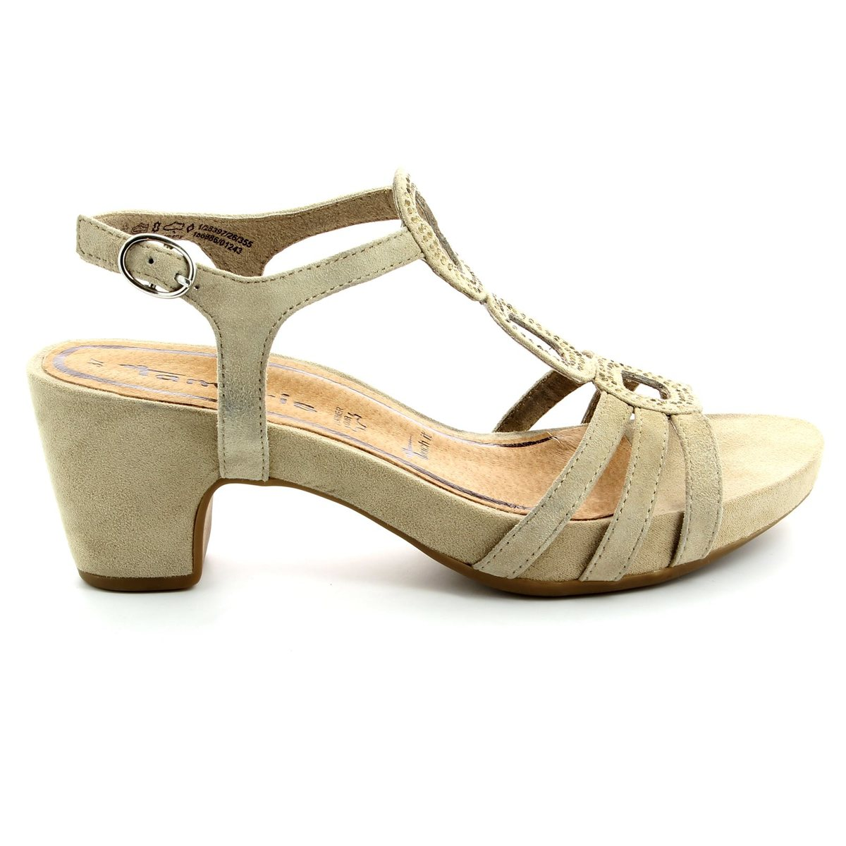 tamaris jule 28397 355 beige heeled sandals. Black Bedroom Furniture Sets. Home Design Ideas