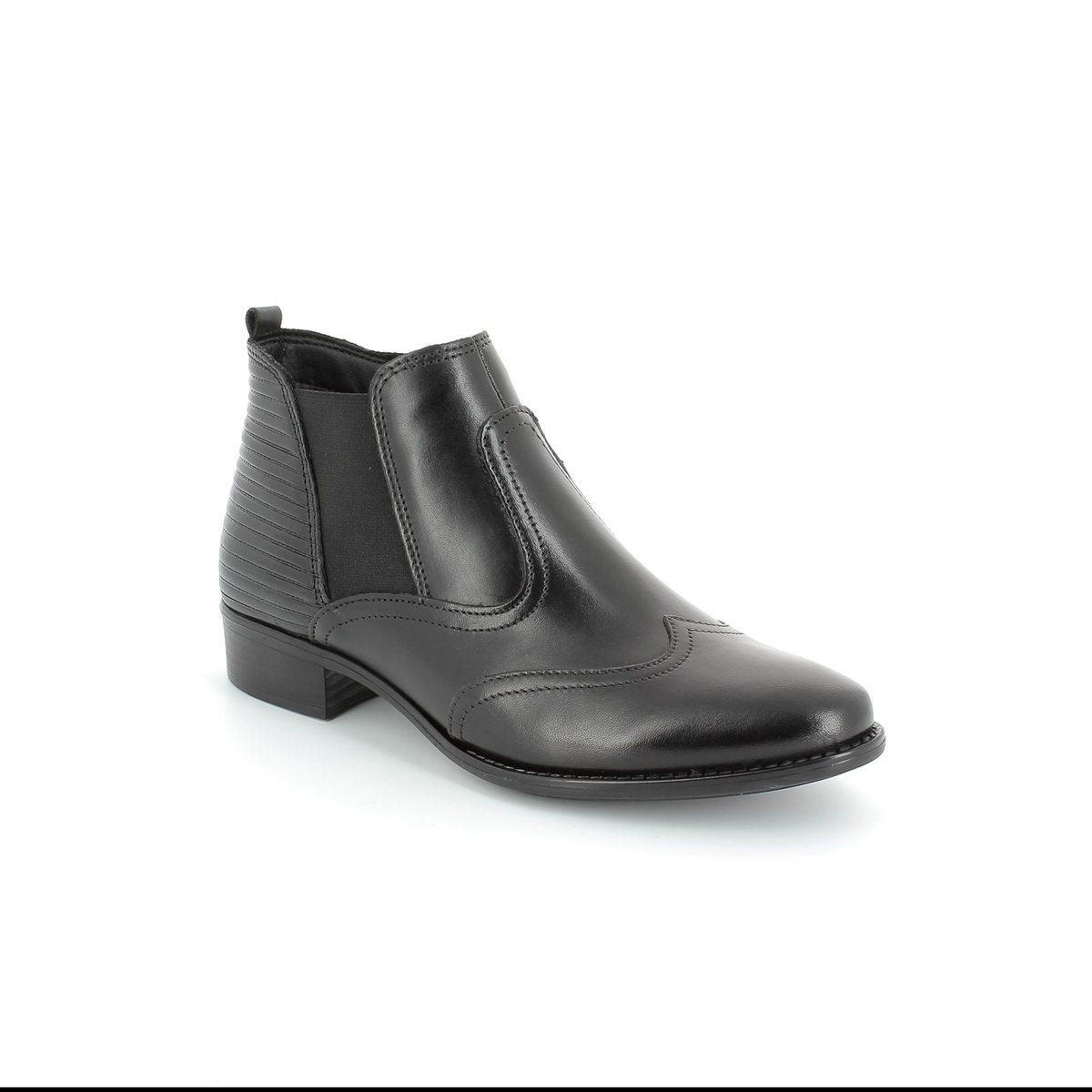 tamaris linda 25001 001 black ankle boots. Black Bedroom Furniture Sets. Home Design Ideas