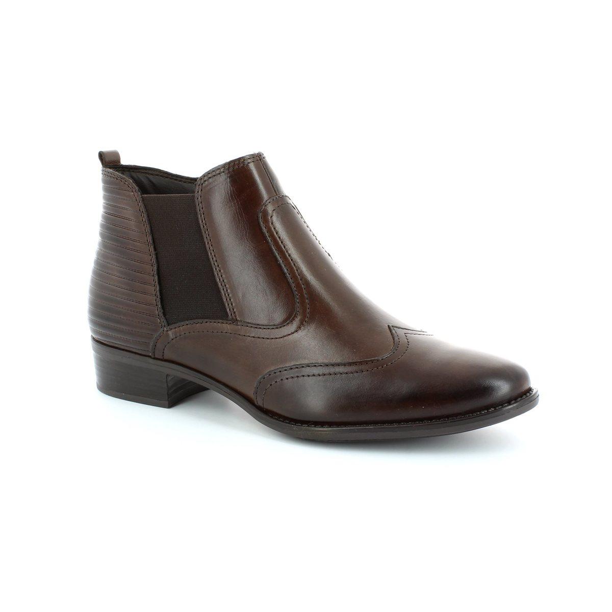 tamaris linda 25001 323 brown ankle boots. Black Bedroom Furniture Sets. Home Design Ideas
