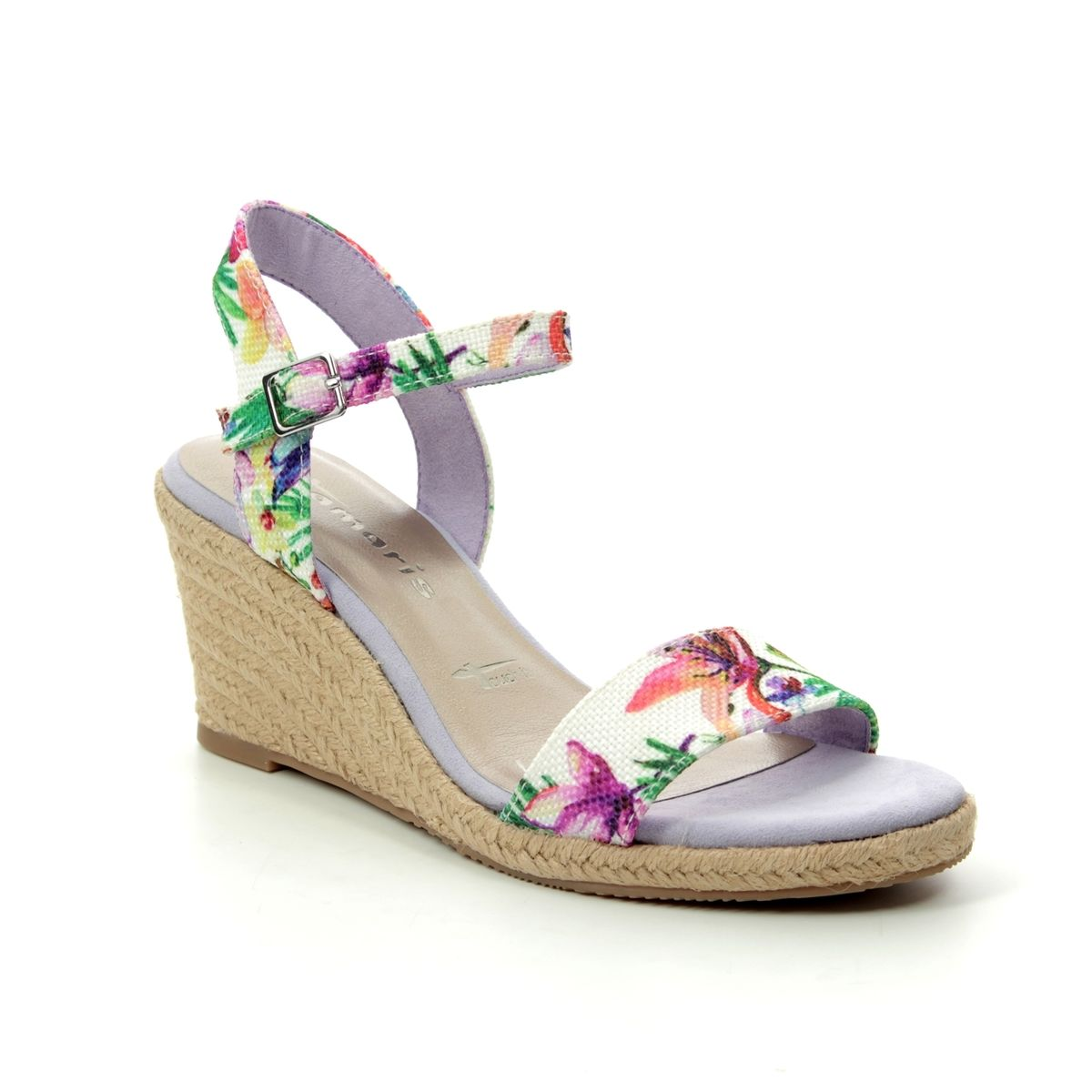 c4dfc1d6264 Tamaris Wedge Sandals - Floral print - 28300 22 908 LIVIA 91