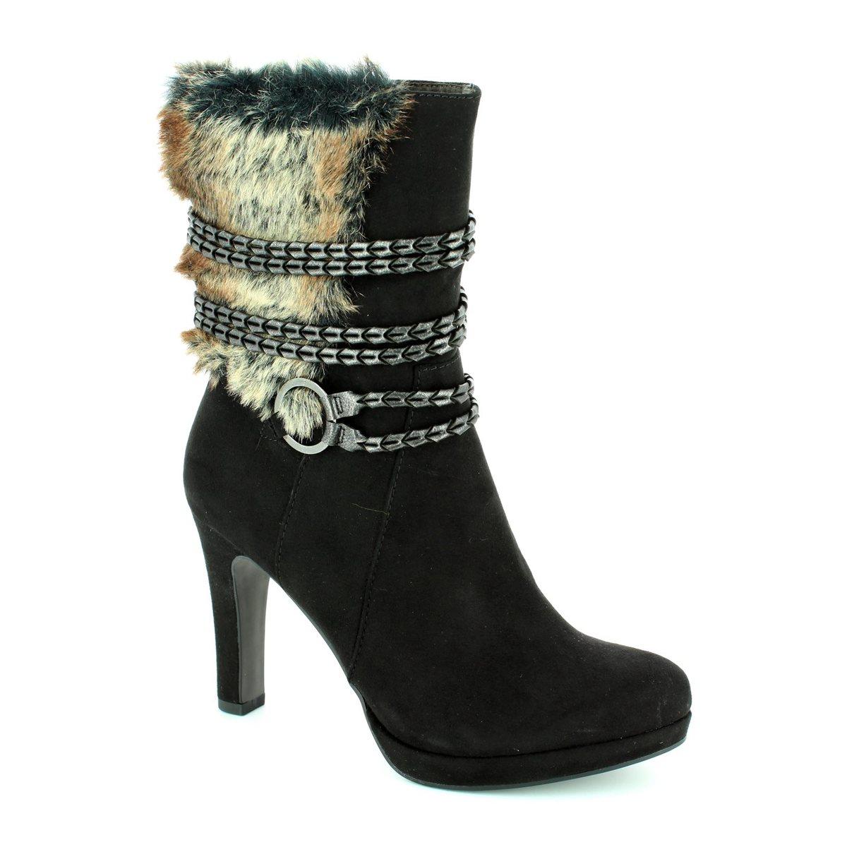 tamaris lycorfur 25314 001 black ankle boots. Black Bedroom Furniture Sets. Home Design Ideas