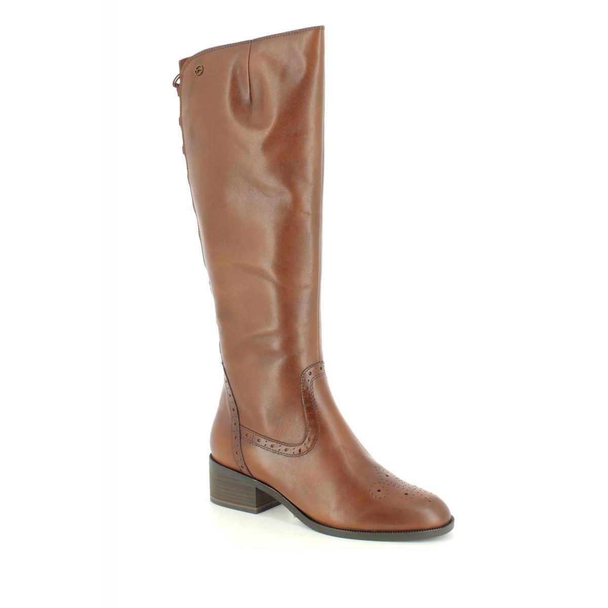 25541-21-305 Tan Leather knee-high boots