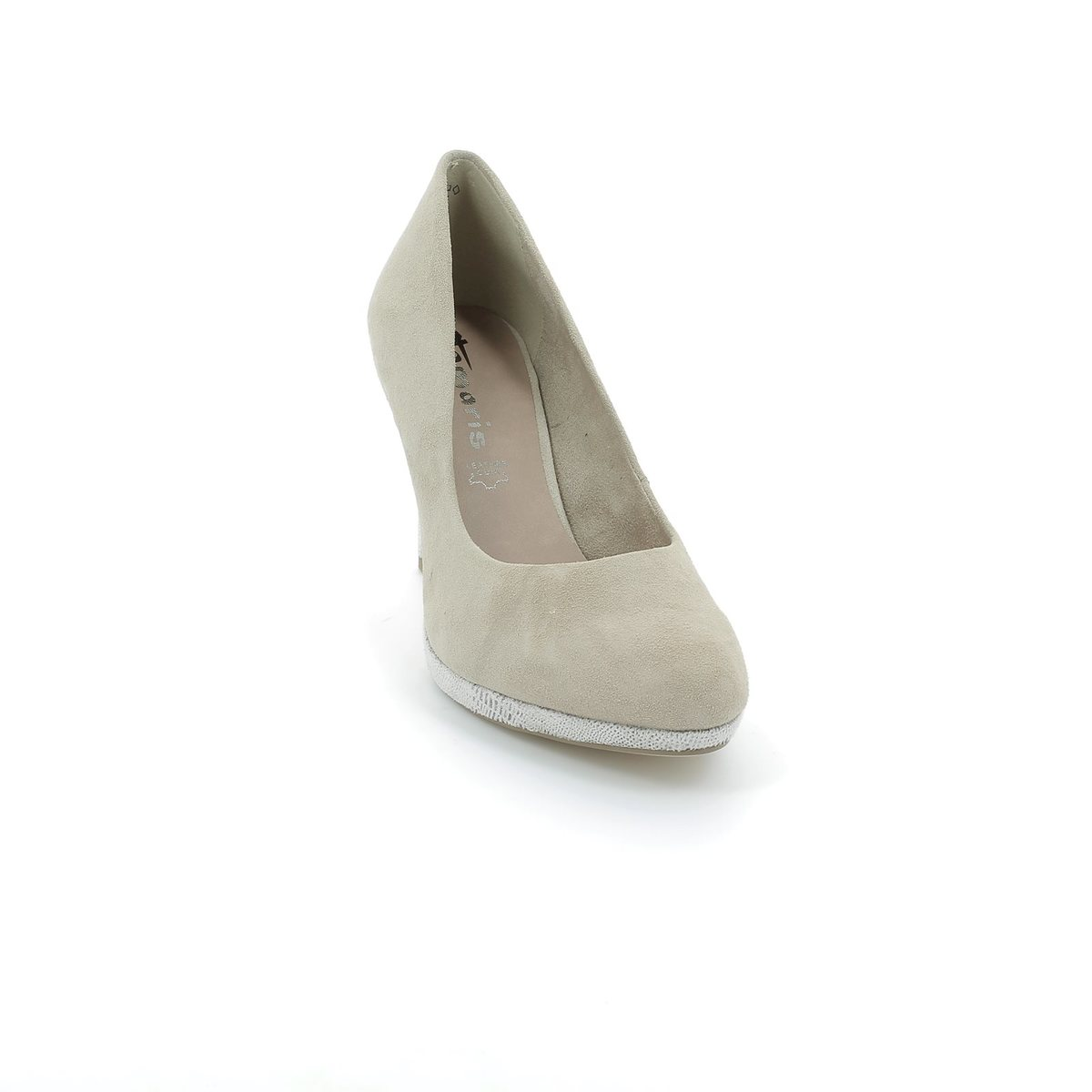 Tamaris Susie 22405 324 Beige suede high heeled shoes