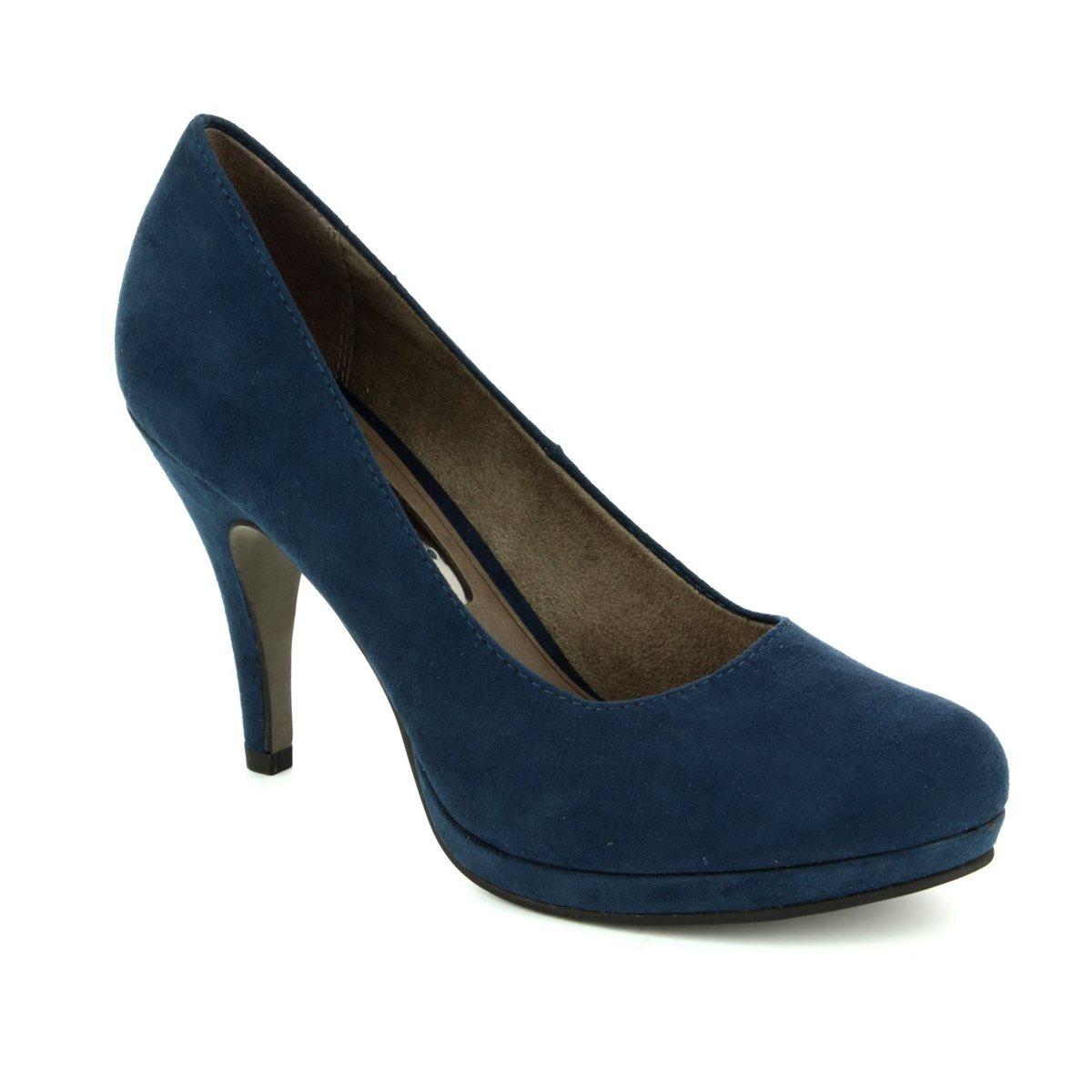 tamaris taggia 22407 805 navy high heeled shoes. Black Bedroom Furniture Sets. Home Design Ideas