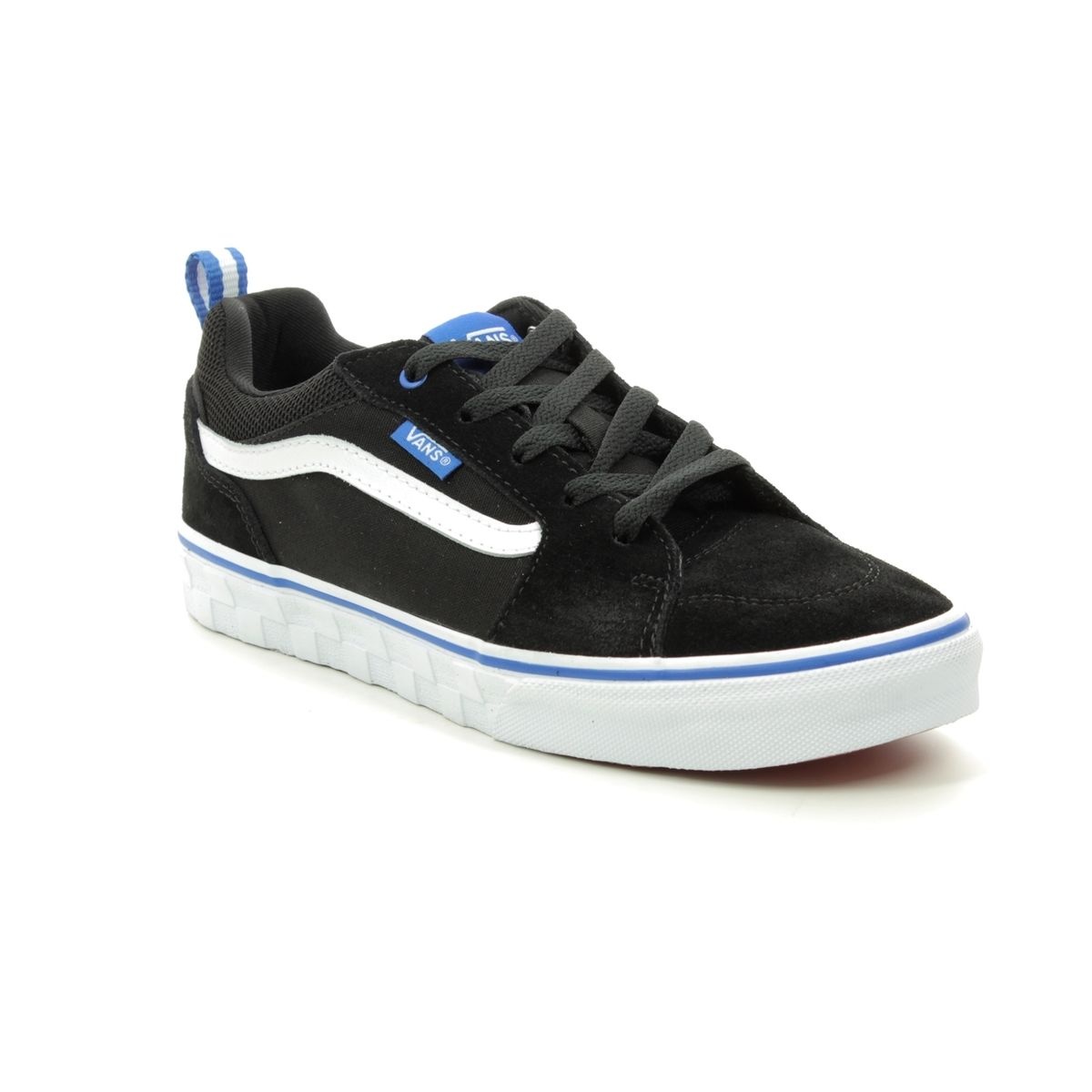 78139fd6c Vans Filmore Checker VN0A3MVPV-WC Black suede or snake trainers