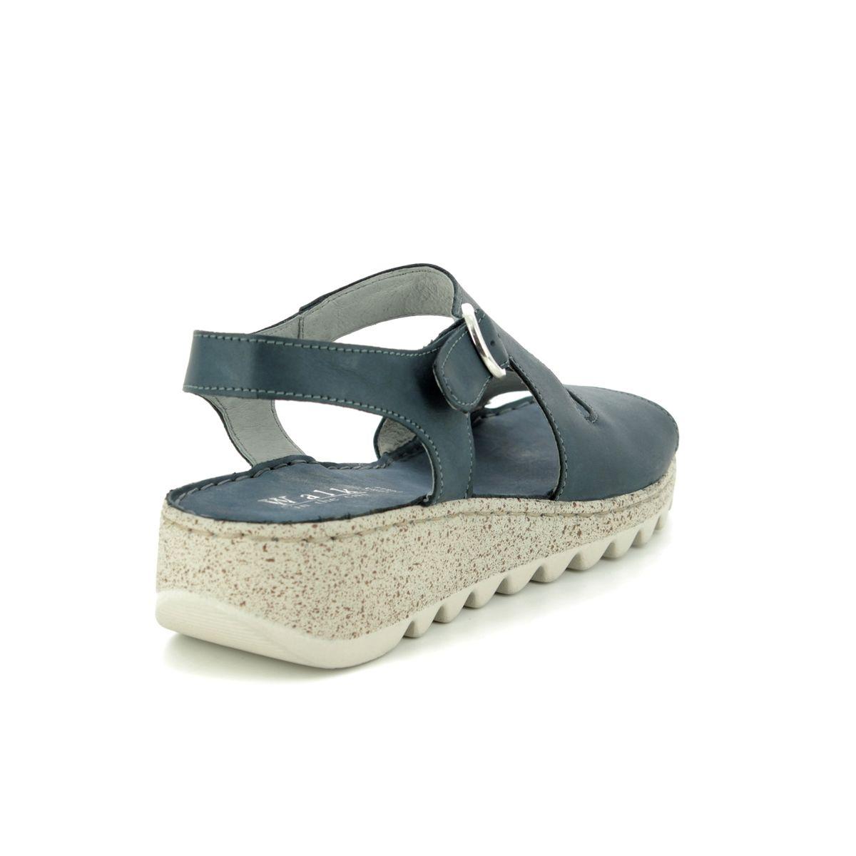 85e44e27a5e Walk in the City Wedge Sandals - Denim leather - 9371 36170 TRAMBA